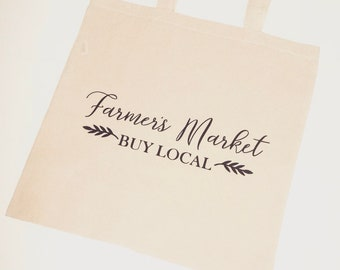 Farmers Market Canvas Tote