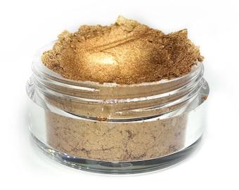 ALIEN -  Loose Eyeshadow, Highlighter, Bronze Eye shadow, Cruelty Free, Gold Shimmer, Metallic Makeup, Gold Makeup, Drag Makeup