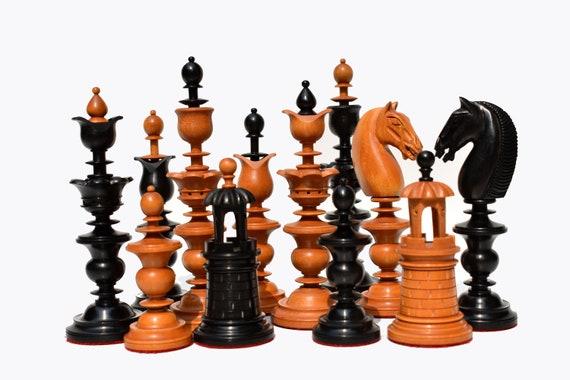 1790 Selenus Series Luxury Antique Chess Set Chess Pieces Etsy