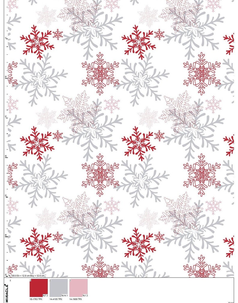 Cotton Jersey Stretch Fabric Fabric By the Yarn Christmas Fabric New Year Snowflake Jersey Fabric Jersey Knit Fabric,Kids Fabric