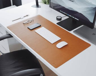 ULX Leather Desk Mat - Brown