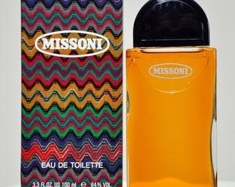 36d4662b23 Missoni by Missoni Eau de Toilette Edt 100ML 3.4 Fl. Oz. Splash No Spray  Perfume for Woman Rare Vintage Old 1981
