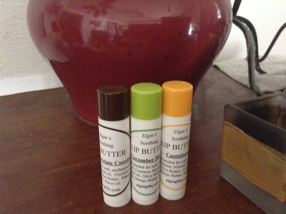 Lip Butter  all natural  mango butter based  lip balm  less waxy han most lip balms  great stocking stuffer or gift addition