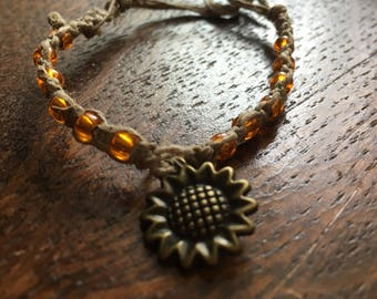 Women's sunflower bracelet