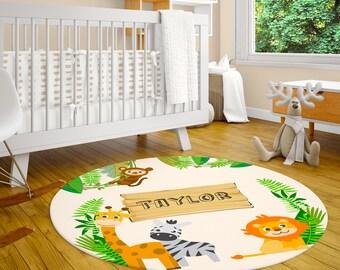 "Round Baby Crawling Mat 24/"" Microfiber Cotton Nursery Floor Rugs Carpet PICK"
