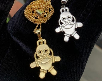 Mac Miller Tribute Swimming In Circles Robot Necklace Chain Pin