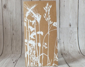 Wildflower Screen Printed Card - Greetings Card, Blank Card, Birthday, Mother's Day