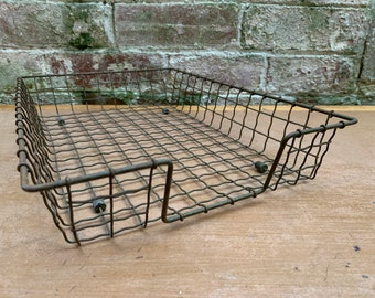 Wire Paper Racks   1960's   Vintage Office Stationery   Desk Tidy   In Tray