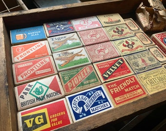 Matchboxes   Vintage   Match Company Advertising Boxes   Design   Graphics   Matches
