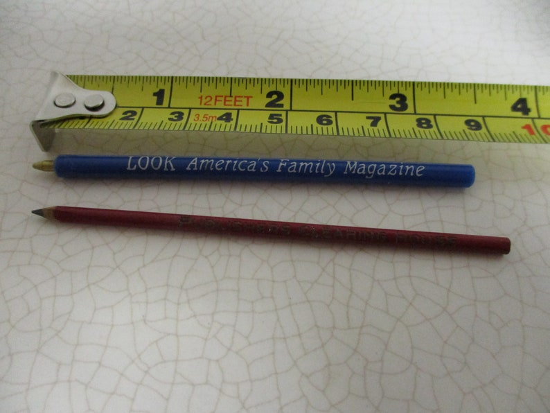 Tiny pencil and pen -1960's one from
