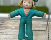 Vintage Cloth Sailor Doll Made in Hungary