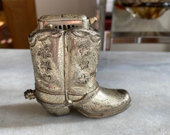 ceramic cowboy boot with flowers. Vintage Cowboy Boot from Japan Made in Japan
