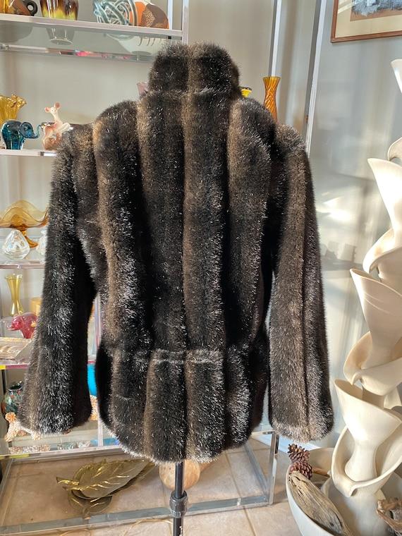 Woman's DUFFEL Faux Fur Drawstring Jacket Coat Si… - image 3