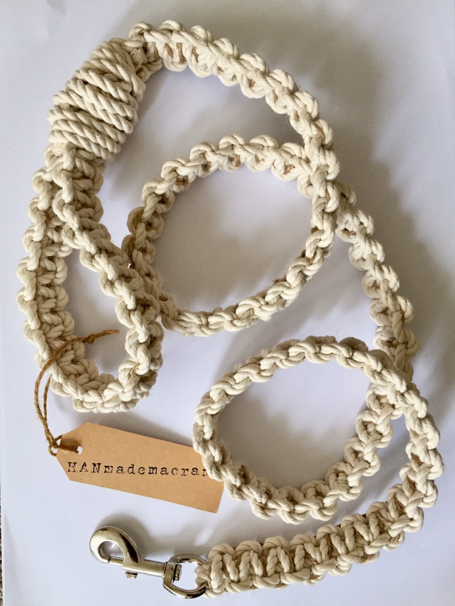Australian macrame dog leash