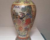 Antique 8 quot Japanese pheasant vase
