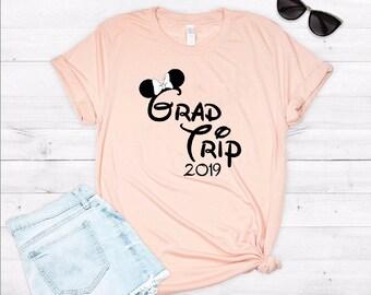 464d1a09a1 Disney Grad Trip Ever Super Soft Triblend Tee. Disneyland Unisex Tee. Cute  Disney Shirt. Graduation Shirt.  V1677