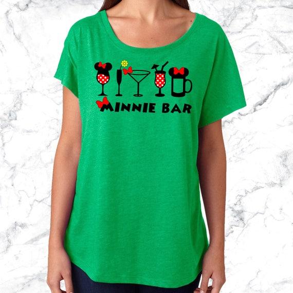 Disneyland Wine Shirt Disney Minnie Bar Drinking Tank Or Slouchy Dolman