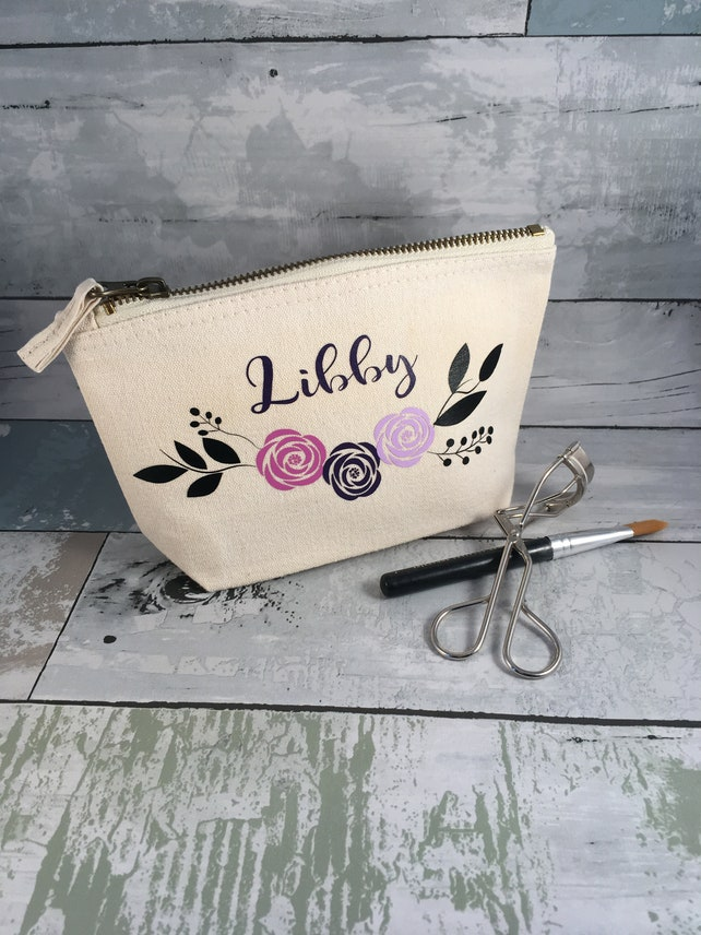 Personalised Makeup Bag Bridesmaid Gift Wedding Day Gift For Etsy
