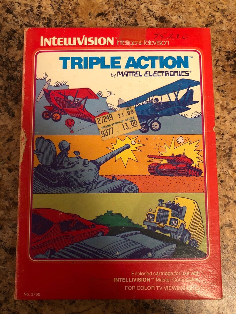 Triple Action game for Intellivision