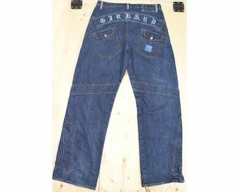 12643d4c Vintage Marithe Francois Girbaud Jeans Patchwork Embroidery Baggy Medium  Wash Size 34 M Punk Streetwear Grunge Denim