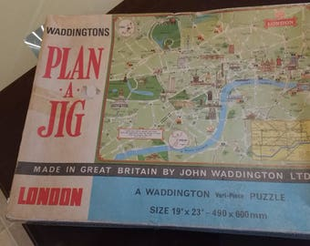 1970'S Plan a Jig puzzle of London