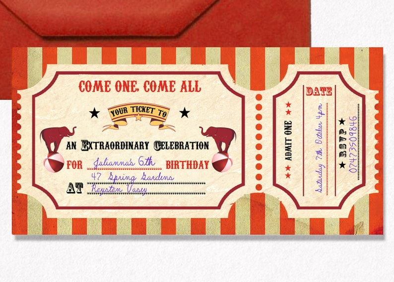 image relating to Printable Carnival Tickets named Circus printable invitation, Circus ticket invitation, Carnival invitation, Circus celebration ticket, circus kid birthday, circus birthday