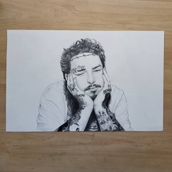 Post Malone Drawing: Post Malone Drawing