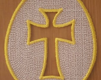"""Embroidery File FSL Easter """"Cross"""""""