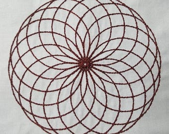 """Embroidery File """"Round & Round"""" (Hoop 5"""" x 7"""")"""