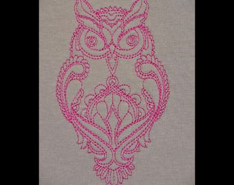 """Embroidery File """"Hypno Owl"""" (Hoop 5"""" x 7"""")"""