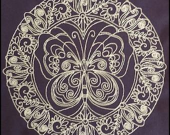 "Embroidery File ""Butterfly Garden"" (Hoop 5"" x 7"")"