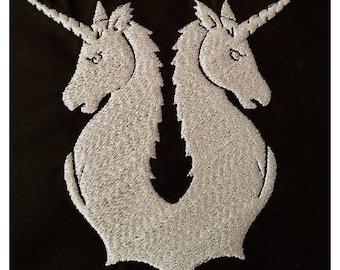 "Embroidery File ""Unicorn Crest"""