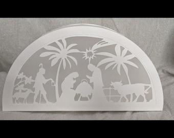 "Plotter file window picture/table decoration/light box ""Nativity Scene"""