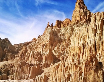 """5x7 Matted Color Photograph - """"Cathedral Gorge"""""""
