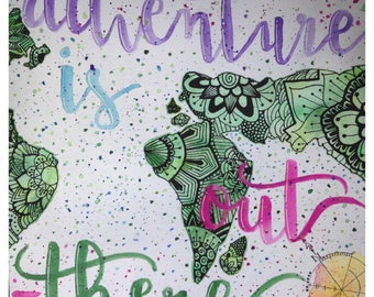Adventure and Traveling Watercolor Painting