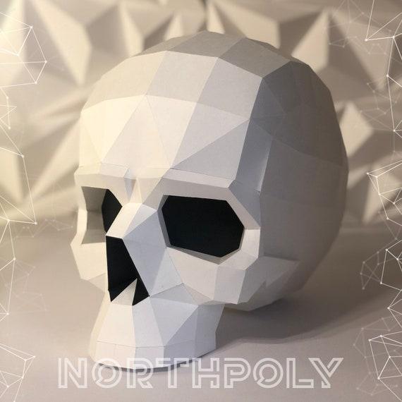Turnbeutel Low Poly Skull Totenkopf