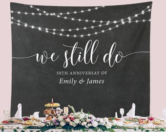Anniversary Backdrop Etsy