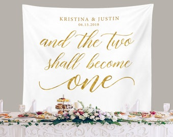 Items similar to Personalized Wedding Backdrop For Reception ...