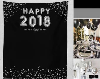 New Years Eve Photo Booth Backdrop New Year Party Etsy