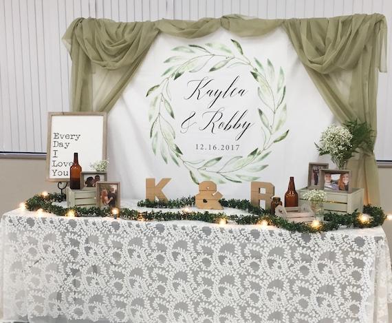 Rustic Wedding Backdrop Greenery Wedding Reception Decor | Etsy