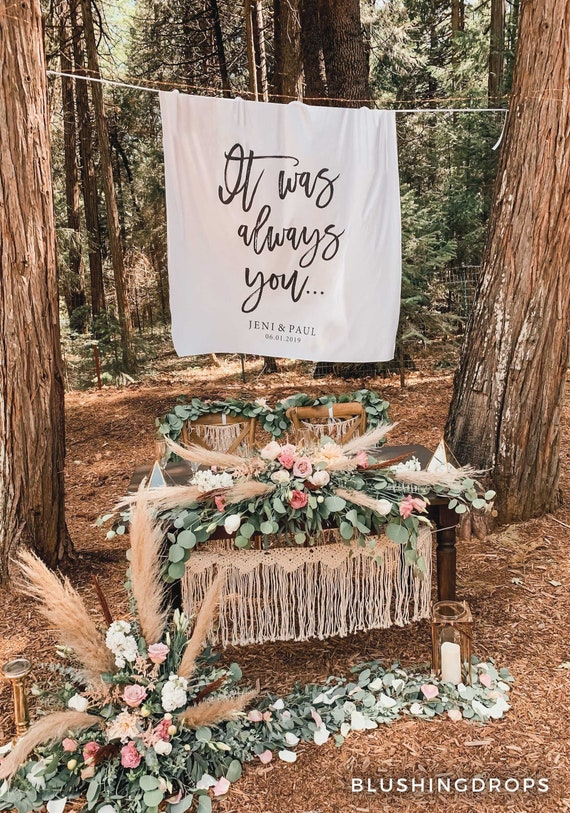Outdoor Wedding Decorations Wedding Tapestry Backdrop