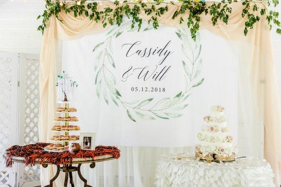 Greenery Wedding Backdrop Wedding Decorations Rustic Wedding Etsy