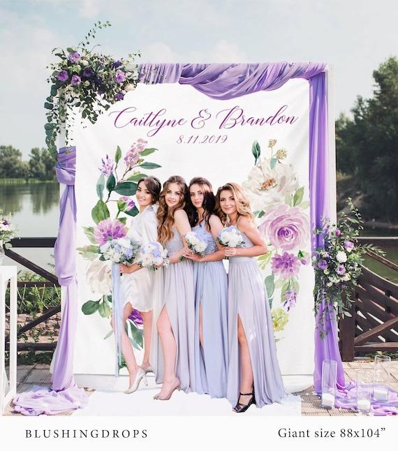 Lavender Wedding Photo Backdrop Purple Wedding Decorations   Etsy