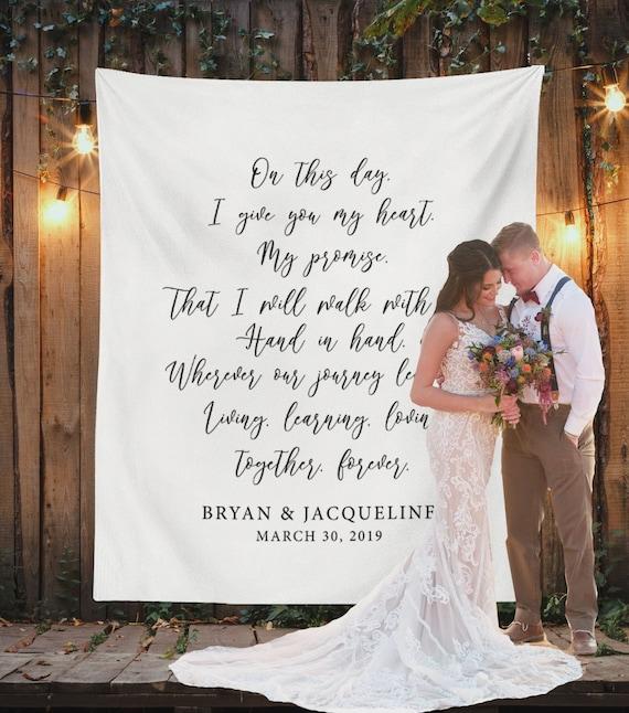 Wedding Backdrop Ideas Personalized Wedding Backdrop Rustic   Etsy