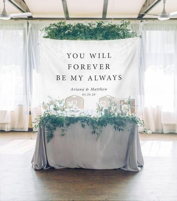 Wedding Backdrop For Reception Sweetheart Table Backdrop You | Etsy