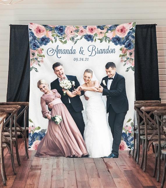 Navy Blush Wedding Decor Wedding Photo Props Wedding Photo Etsy