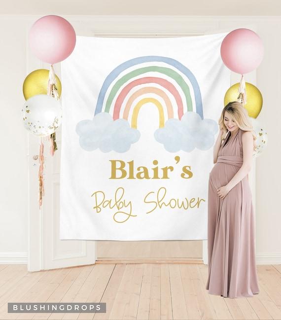 Unisex baby shower Baby shower garland Baby shower banner Baby shower decorations Rainbow banner Boho baby shower Rainbow baby shower