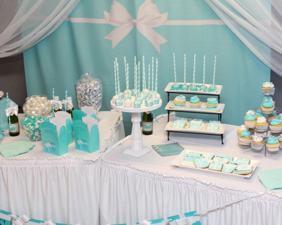 Breakfast At Party Backdrop Audrey Theme Birthday