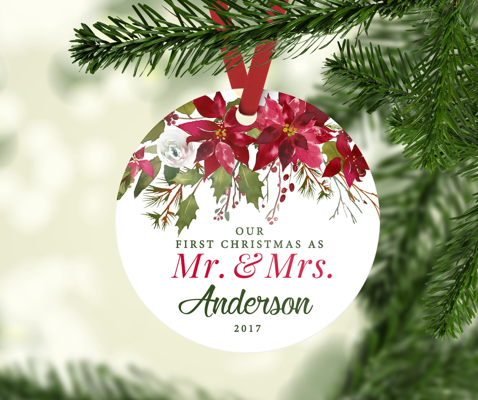 Our First Married Christmas Ornament Mr. and Mrs. Ornaments   Etsy