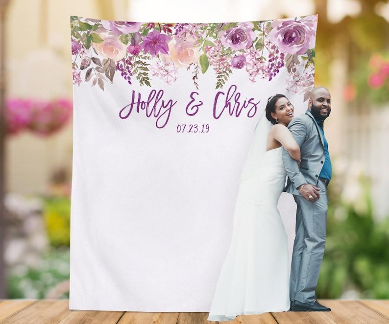 Purple Wedding Photo Backdrop Lavender Wedding Decoration Etsy